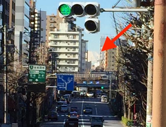 大塚三丁目富士見坂の富士山